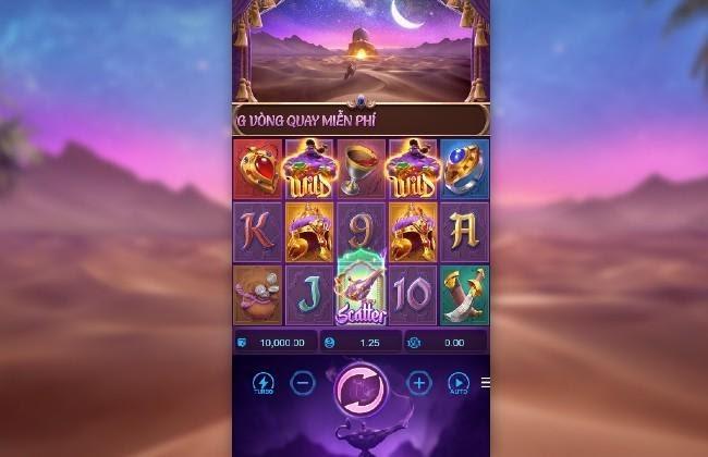Genie's 3 Wishes - Đèn Aladdin game quay đổi thưởng thần thoại