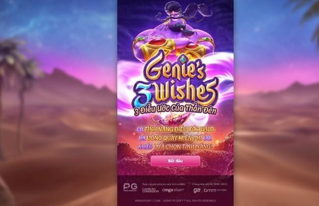 Genie's 3 Wishes - Đèn Aladdin - Game quay thưởng hấp dẫn