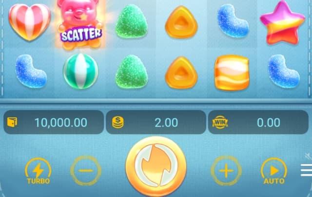 Các nút trong Candy Burst