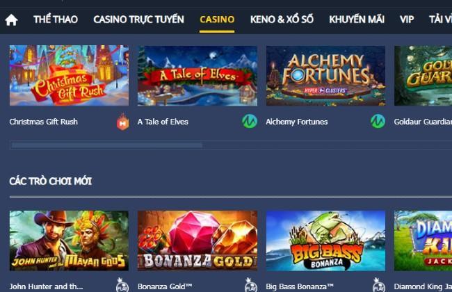 Các trò chơi có trong phòng Casino M88 rất phong phú