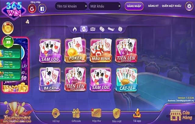Một số trò chơi liên quan đến đánh bài trong m365win