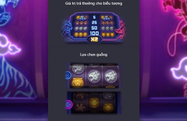 giá trị trả thưởng Dragon Tiger Luck