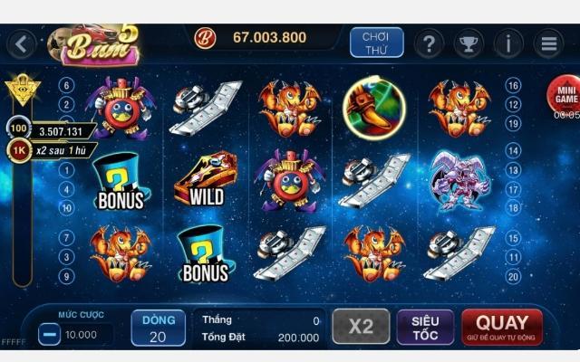 Giao diện game trong BumVip Club