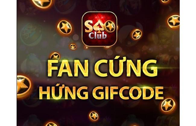 Giftcode trong cổng game Saoclub