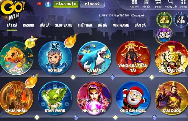 Cổng game Gowin sự lựa chọn hoàn hảo cho game đổi thưởng