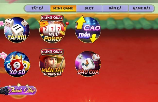 Những trò chơi trong Minigame tại Nagavip