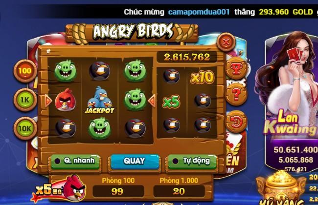 Trò chơi Angry Birds theo phong cách quay hũ ở g9 club