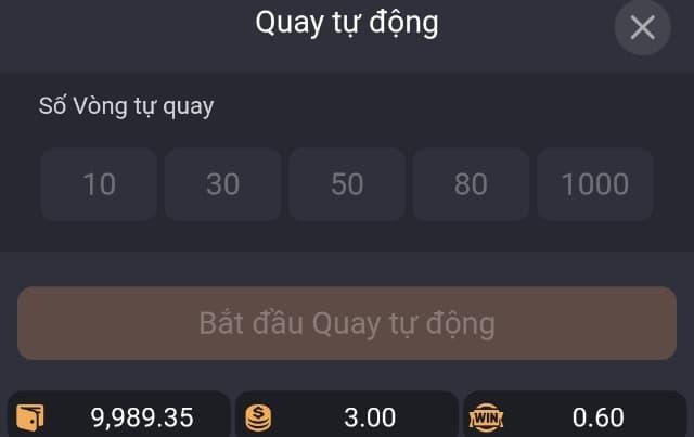 Auto - Quay tự động Game Caishen Win