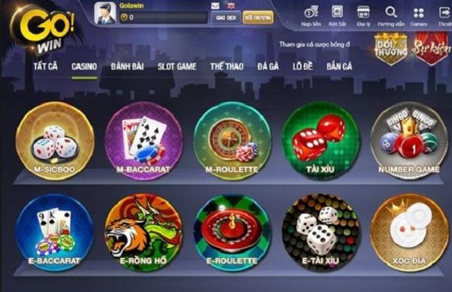 Các trò chơi có trong Casino ở Gowin