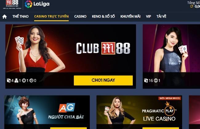 Các trò Casino trực tuyến thu hút người chơi