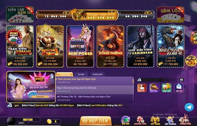 Người chơi có thể lựa chọn tựa game theo sở thích của mình