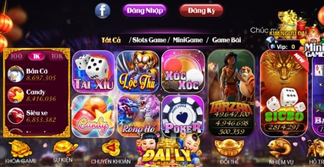 Kho game đồ sộ và đa dạng của Nohu club
