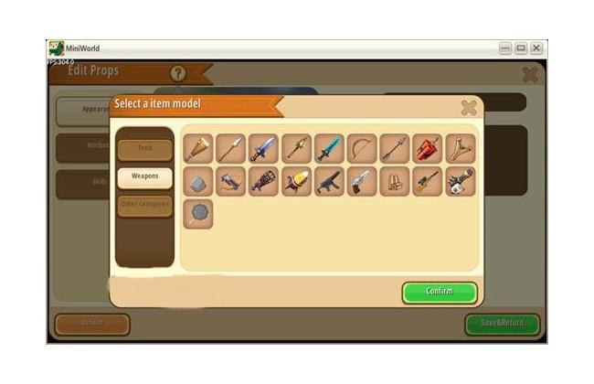 Skin Mini World - Chọn bất kỳ vũ khí mặc định tại đây