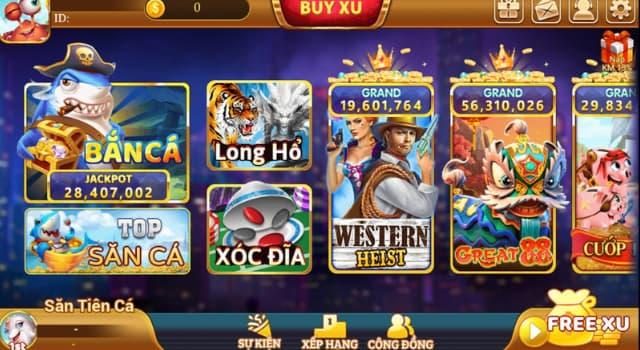 Các thể loại game tại Xu vàng 777