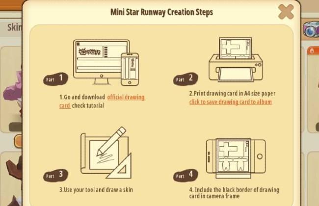 Skin Mini World - Lưu DIY Skin Drawing Card và in bản vẽ ra theo khổ A4