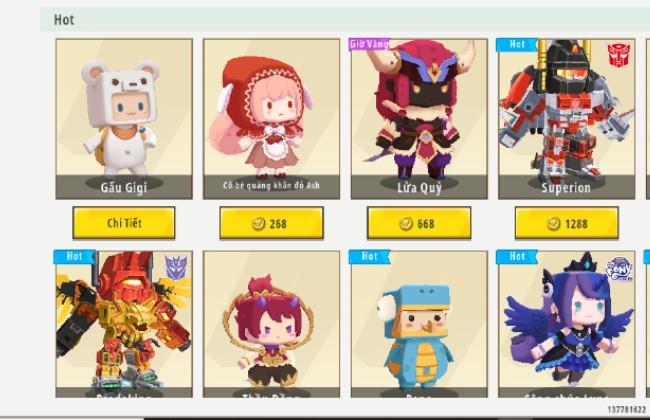 Skin Mini World - Mua nhân vật mới có sẵn