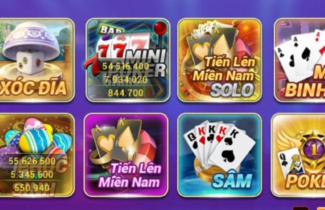 Những trò chơi đặc sắc có mặt ở cổng game Zo777