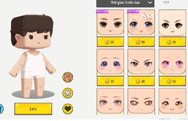 Skin Mini World - Chọn khuôn mặt