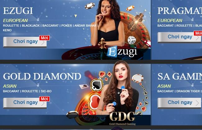 Live Casino tại UCW88