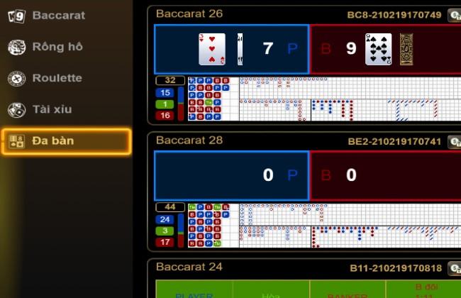 Sảnh game Velvet Club có trong V9bet Casino