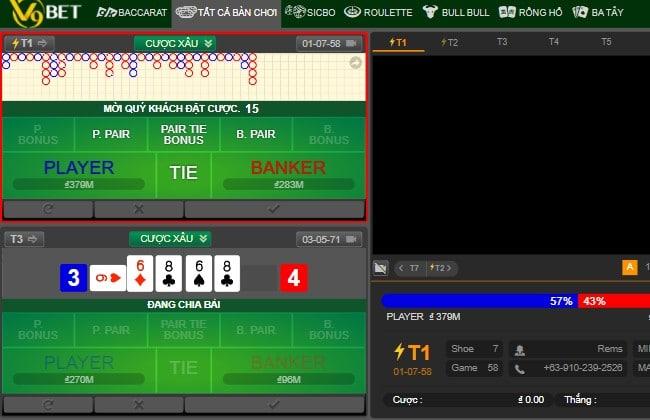 Sảnh game V9 Club có trong V9bet Casino