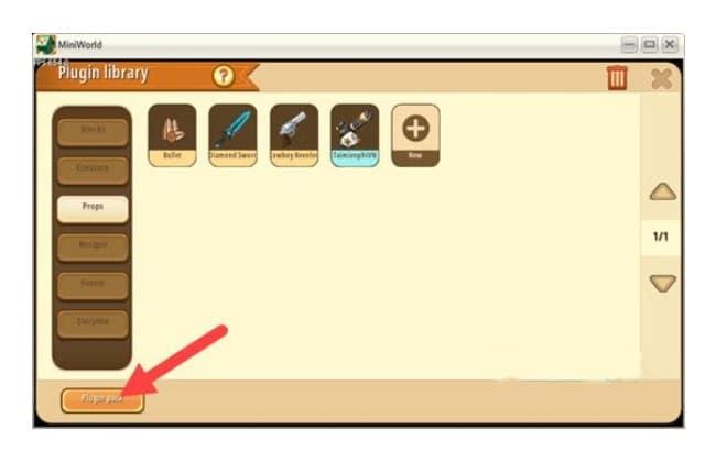 Skin Mini World - Tải các bản Skin của một số trò chơi khác khi nhấn Plugin Pack