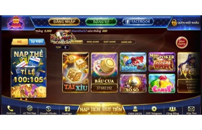 Giao diện của cổng game đổi thưởng uy tín Big88