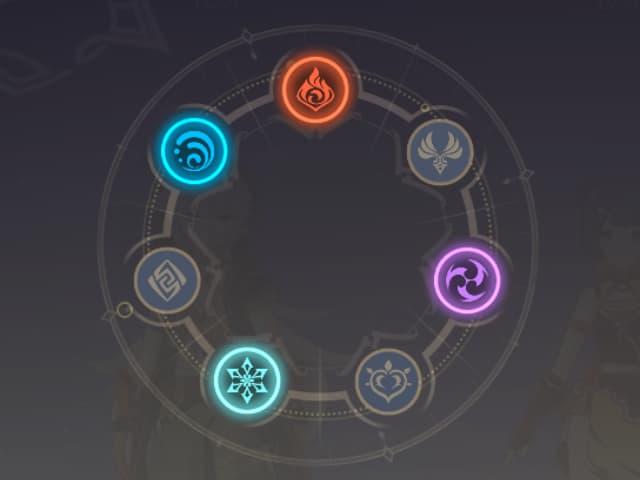 Sự tương tác giữa các nguyên tố năng lượng trong game genshin impact