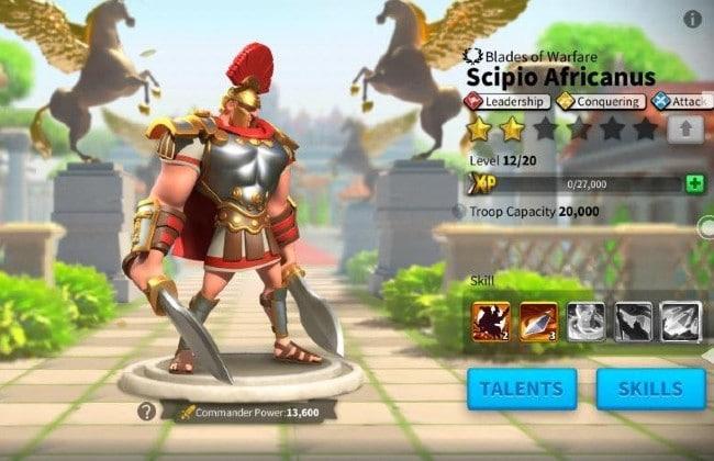 Scipio Africanus trong Rise of Kingdoms