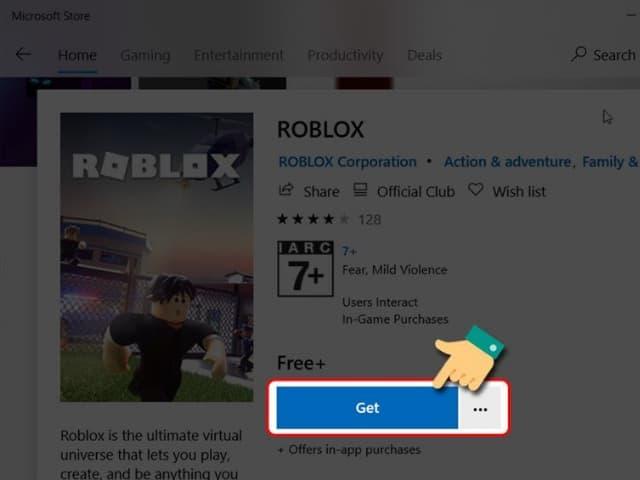 Bấm chọn GET rồi chờ trò chơi được cài đặt về máy tính