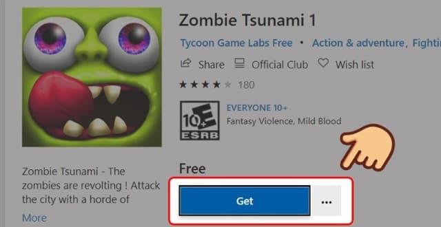 Chọn GET để tải game về máy tính
