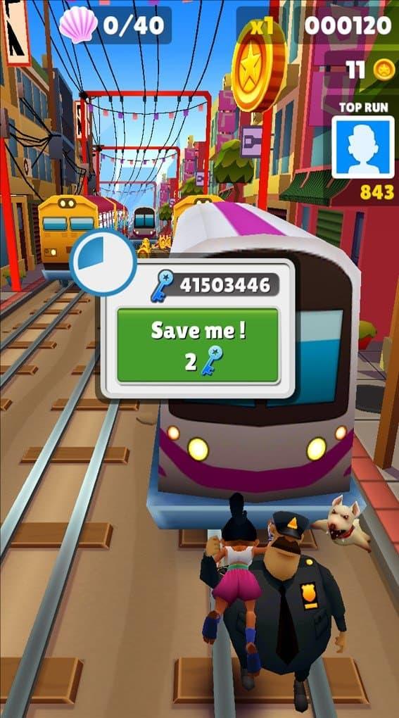 Bấm Save me để tiếp tục màn chơi mới nhưng vẫn giữ nguyên số điểm và xu vàng