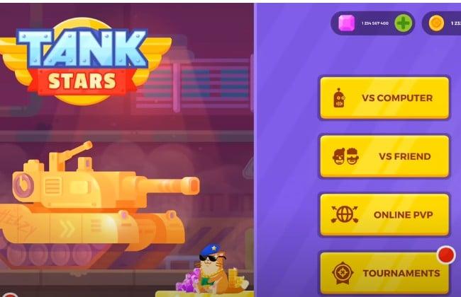 Các chế độ chơi game Tank Stars để bạn lựa chọn