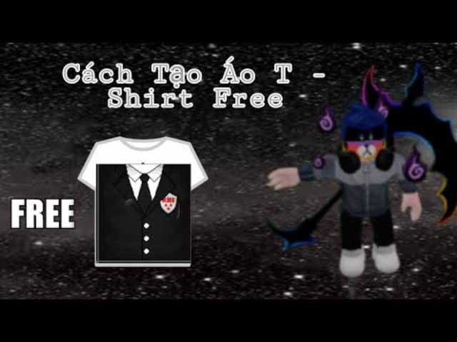 Cách tạo mẫu áo T - shirt cho nhân vật trong roblox
