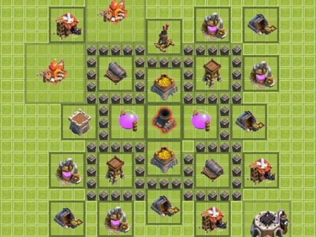 Cách xếp nhà trong clash of clans