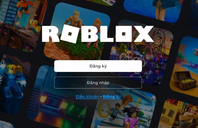 Đăng nhập vào tài khoản game để sử dụng Roblox Code