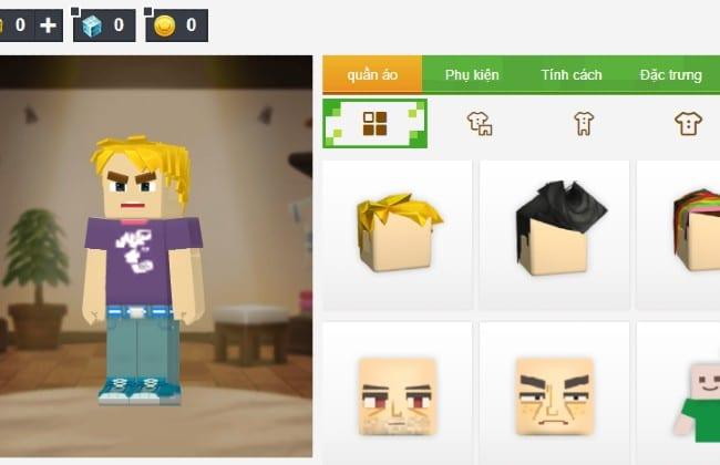 Hình đại diện nhân vật người chơi của Blockman Go
