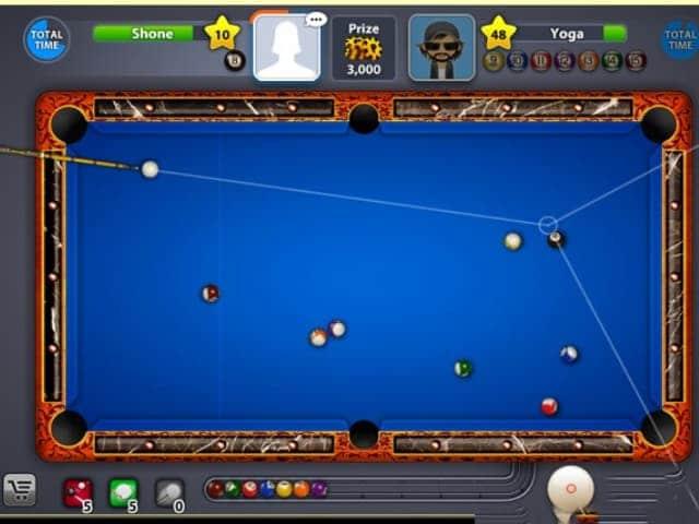 Bấm chọn NHẬN để tải game rồi bắt đầu chơi game 8 ball pool trên hệ điều hành IOS