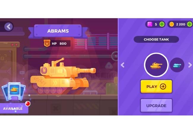 Lựa chọn xe tăng khi chơi game