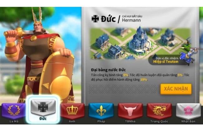 Nền văn minh Đức trong game Rise of Kingdoms