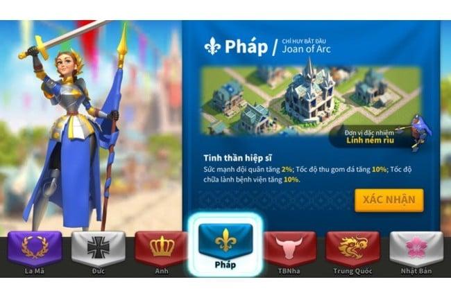 Nền văn minh Pháp trong Rise of Kingdoms