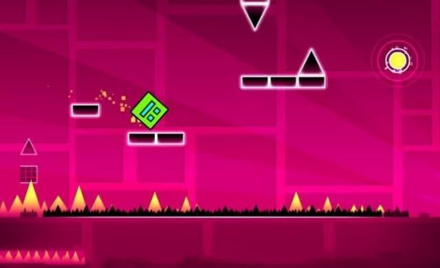 Vượt qua các khối có trong trò chơi geometry dash lite