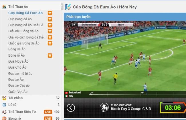 Các trò chơi thể thao ảo tại Fabet.com