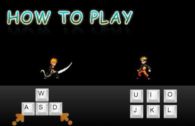 Cách điều khiển nhân vật khi chơi Naruto vs Bleach 3.5