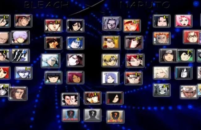 Các nhân vật trong trò chơi bleach vs naruto 3.5 mà bạn có thể lựa chọn