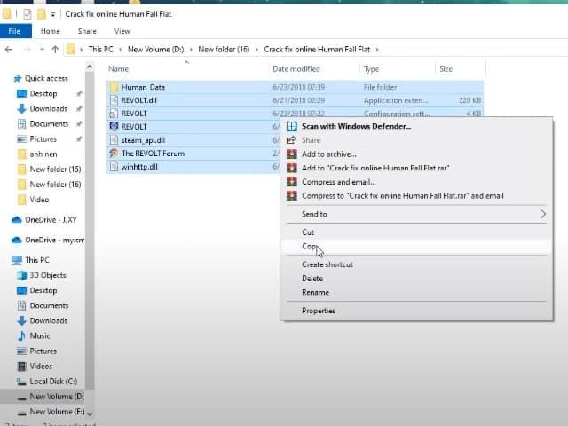 Đi đến nơi mà bạn đã lưu game bản gốc rồi nhấn vào file ấy và dán các file mà bạn đã sao chép vào thư mục này