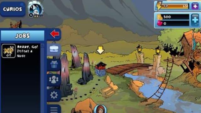 Lối chơi đơn giản và dễ điều khiển nhân vật của trò chơi curio quest