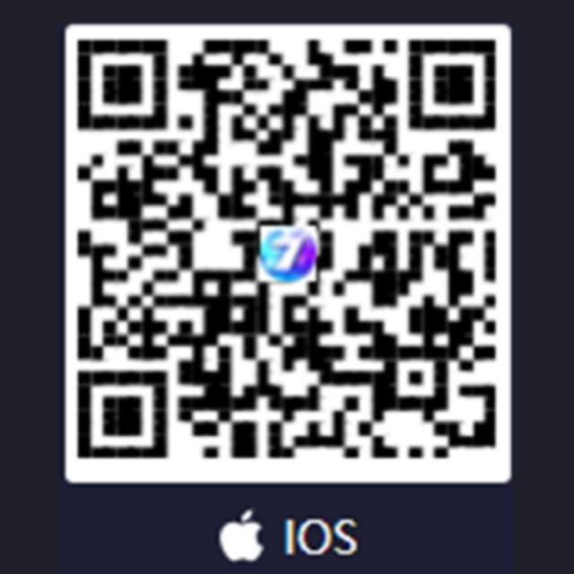 Quét mã QR để bắt đầu quá trình tải app 7ball trên IOS