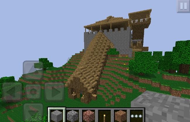 Minh họa chế độ sáng tạo tại Minecraft pe apk