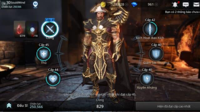 Nhân vật trong game darkness rises